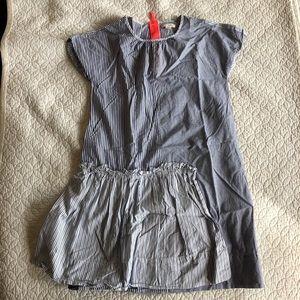 Crewcuts blue/white mixed stripe sleeveless dress